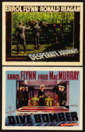 """Movie Posters:Action, Dive Bomber Lot (Warner Brothers, 1941). Lobby Cards (2) (11"""" X 14""""). Action. ... (Total: 2 Items)"""