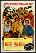 """Movie Posters:War, Fighter Attack (Allied Artists, 1953). One Sheet (27"""" X 41""""). War...."""