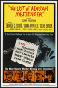 """Movie Posters:Mystery, The List of Adrian Messenger (Universal, 1963). One Sheet (27"""" X 41""""). Mystery. ..."""