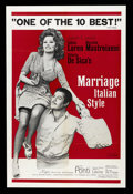 "Movie Posters:Comedy, Marriage Italian-Style (Embassy Pictures, 1964). One Sheet (27"" X 41""). Comedy. ..."