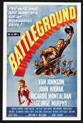"Movie Posters:War, Battleground (MGM, R-1962). One Sheet (27"" X 41""). War. ..."