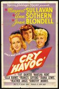 "Movie Posters:War, Cry Havoc (MGM, 1943). One Sheet (27"" X 41""). War. ..."