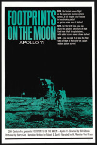 "Footprints on the Moon: Apollo 11 (20th Century Fox, 1969). One Sheet (27"" X 41""). Documentary"