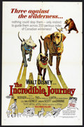 "Movie Posters:Adventure, The Incredible Journey (Buena Vista, R-1969). One Sheet (27"" X41""). Adventure. ..."