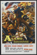 "Movie Posters:Western, The Alamo (United Artists, 1960). One Sheet (27"" X 41"") Tri-Folded. Western. ..."