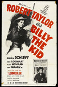 """Movie Posters:Western, Billy the Kid (MGM, R-1955). One Sheet (27"""" X 41""""). Western. ..."""