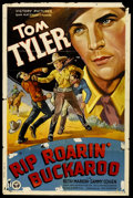 """Movie Posters:Western, Rip Roarin' Buckaroo (Victory Pictures, 1936). One Sheet (26.75"""" X41""""). Western. ..."""