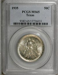 1935 50C Texas MS65 PCGS. PCGS Population (725/919). NGC Census: (407/825). Mintage: 9,996. Numismedia Wsl. Price for NG...