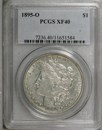1895-O $1 XF40 PCGS. PCGS Population (254/1864). NGC Census: (182/2021). Mintage: 450,000. Numismedia Wsl. Price for NGC...