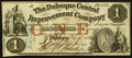Obsoletes By State:Iowa, Dubuque, IA- Dubuque Central Improvement Company $1 Feb. 25, 1858....