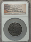 U.S. Presidents & Statesmen, (1848) Zachary Taylor Campaign Medal, DeWitt ZT-1848-18 --Environmental Damage -- NGC Details. VF. ...