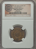 Early American Tokens, (1825-29) New York, NY, Richard Trested, Six Cents, R-E-NY-923 -- Holed -- NGC Details. Fine. ...