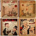 Platinum Age (1897-1937):Miscellaneous, Mutt and Jeff Books Group (Cupples & Leon, 1920s) Condition:Average FR/GD.... (Total: 4 Comic Books)