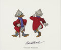 Animation Art:Color Model, Mickey's Christmas Carol Uncle Scrooge Color Model Cel (WaltDisney, 1983)....
