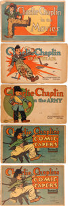Platinum Age (1897-1937):Miscellaneous, Charlie Chaplin #315-318 Group of 5 (Essanay/M. A. Donohue &Co., 1917) Condition: Average FR.... (Total: 5 Comic Books)