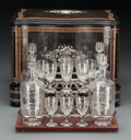 Decorative Arts, Continental:Other , A Victorian Walnut, Bone, and Ebonized Wood Cave a Liqueur, 19thcentury. 10-7/8 h x 13-1/2 w x 10-1/4 inches deep (27.6 x 3...