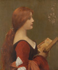 Fine Art - Painting, European:Other , Jules Joseph Lefebvre (French, 1836-1911). Jeanne la Rousse.Oil on canvas. 28-1/4 x 21-3/4 inches (71.8 x 55.2 cm). Sig...