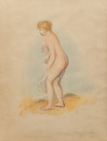 Prints:European Modern, Pierre-Auguste Renoir (French, 1841-1919). Baigneuse debout enpied, 1896. Lithograph in colors. 25-3/8 x 18 inches (64....