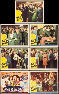 """This Is the Life (Universal, 1944). Title Lobby Card & Lobby Cards (6) (11"""" X 14""""). Musical. ... (Total: 7..."""