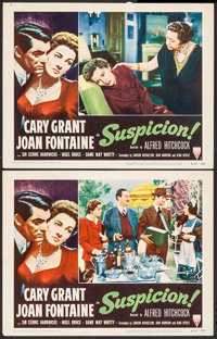 "Suspicion (RKO, R-1953). Lobby Cards (2) (11"" X 14""). Hitchcock. ... (Total: 2 Items)"