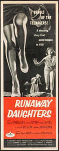 "Movie Posters:Bad Girl, Runaway Daughters (American International, 1956). Insert (14"" X36""). Bad Girl.. ..."