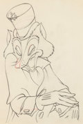 Animation Art:Production Drawing, Pinocchio Foulfellow Production Drawing (Walt Disney, 1940)....