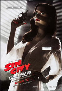"""Sin City: A Dame to Kill For (Dimension, 2014). One Sheet (27"""" X 40"""") DS Advance Ava Style. Action"""