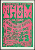 "Movie Posters:Rock and Roll, Them at The Fillmore Auditorium (Bill Graham, 1966). Concert PosterNo. 12 (14"" X 20"") 2nd Printing. Rock and Roll.. ..."