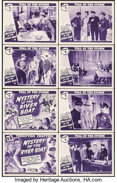 Mystery Of The River Boat Universal 1944 Lobby Card Set