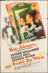 """Easy To Wed (MGM, 1946). One Sheet (27"""" X 41""""). Musical"""