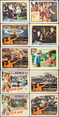 "Movie Posters:Adventure, Killer Ape & Others Lot (Columbia, 1953). Lobby Cards (10) (11""X 14""). Adventure.. ... (Total: 10 Items)"