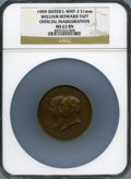 U.S. Presidents & Statesmen, 1909 William Howard Taft Official Inauguration Medal, Levine-WHT-2,MS63 Brown NGC....