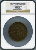Expositions and Fairs, 1905 Lewis & Clark Exposition Award Medal, MS64 Brown NGC....