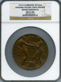 Expositions and Fairs, 1915 Panama-Pacific International Exposition Award, Divine Disivncta, MS63 Brown NGC....