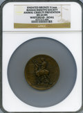 20th Century Tokens and Medals, (circa-1920) Massachusetts Society for the Prevention of Cruelty toAnimals Award MS64 Brown NGC....