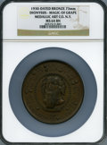 20th Century Tokens and Medals, 1930 Dionysus, Magic of Grape, Alexander-SOM-2.1, MS64 BrownNGC....