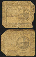 Colonial Notes:Continental Congress Issues, Continental Currency May 10, 1775 $2 Good; . Continental CurrencyMay 9, 1776 $2 Good. ... (Total: 2 notes)