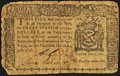 Colonial Notes:New York, New York August 13, 1776 $3 Very Good.. ...