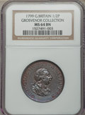 Great Britain:Zurich, Great Britain: George III 1/2 Penny 1799-Soho MS64 Brown NGC,...