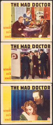 """The Mad Doctor (Paramount, 1941). Lobby Cards (3) (11"""" X 14""""). Crime. ... (Total: 3 Items)"""