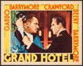 "Movie Posters:Academy Award Winners, Grand Hotel (MGM, 1932). Lobby Card (11"" X 14""). Academy AwardWinners.. ..."