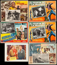 "Quicksand & Others Lot (United Artists, 1950). Lobby Card (11"" X 14""), Mexican Lobby Cards (13) (approx 12..."
