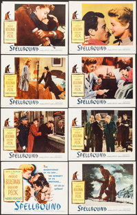 """Spellbound (Selznick, R-1949). Lobby Card Set of 8 (11"""" X 14""""). Hitchcock. ... (Total: 8 Items)"""