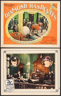 "The 13th Juror & Other Lot (Universal, 1927). Lobby Cards (2) (11"" X 14""). Mystery. ... (Total: 2 Item..."