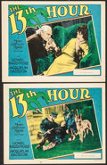 """Movie Posters:Mystery, The Thirteenth Hour (MGM, 1927). Lobby Card (11"""" X 14"""") & Trimmed Lobby Card (11"""" X 13.25""""). Mystery.. ... (Total: 2 Items)"""