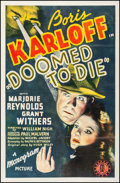 "Movie Posters:Mystery, Doomed to Die (Monogram, 1940). One Sheet (27"" X 41""). Mystery.. ..."