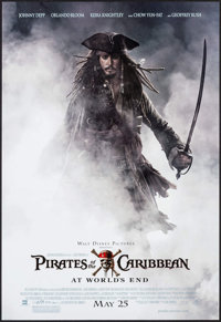 """Pirates of the Caribbean: At World's End (Buena Vista, 2007). Poster (18.5"""" X 27"""") DS Advance. Adventure"""
