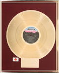 Music Memorabilia:Awards, Whitney Houston In-House (Japanese) Gold Sales Award for WhitneyHouston, 1986. ...