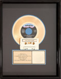"Music Memorabilia:Awards, Whitney Houston RIAA Hologram Gold Sales Award for ""I Wanna Dancewith Somebody (Who Loves Me),"" 1987. ..."