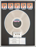 Music Memorabilia:Awards, Whitney Houston RIAA Hologram Multi-Platinum (5x) Sales Award for Whitney Houston, 1985. ...